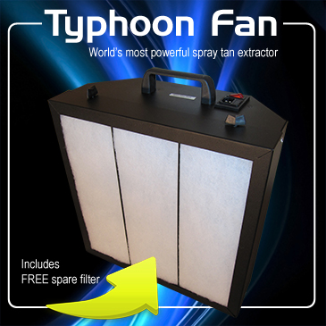 Typhoon Spray Tan Extractor Fan
